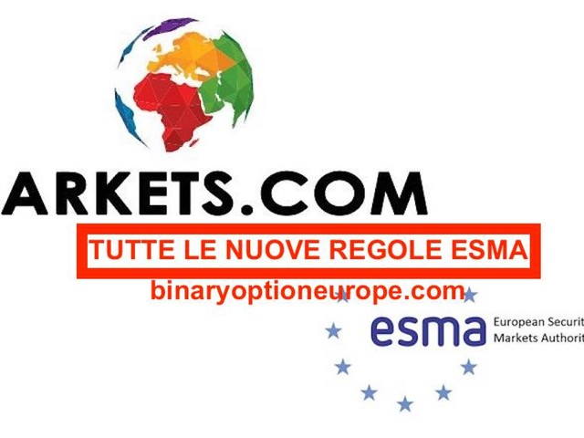 ESMA 2018: Markets.com si adegua alle nuove regole di trading