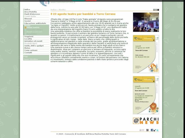 AMP Torre Cerrano - Il 23 agosto teatro per bambini a Torre Cerrano
