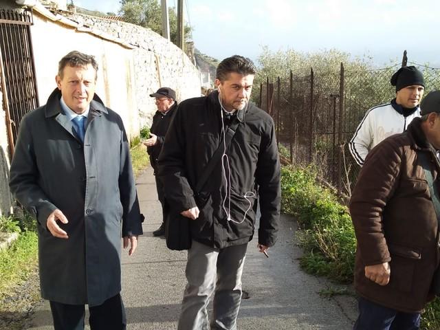 Monreale, via Esterna San Nicola, oggi il sopralluogo dell'Agenzia Nazionale per i beni confiscati alla mafia.