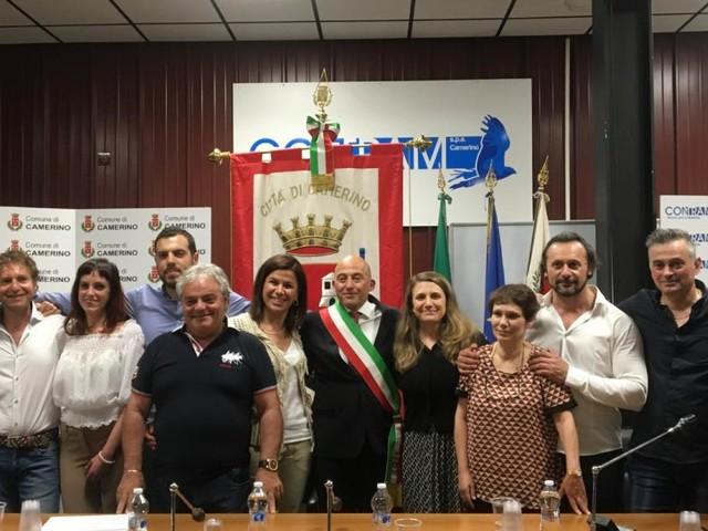 Camerino, primo Consiglio comunale per il neo sindaco Sandro Sborgia (FOTO)