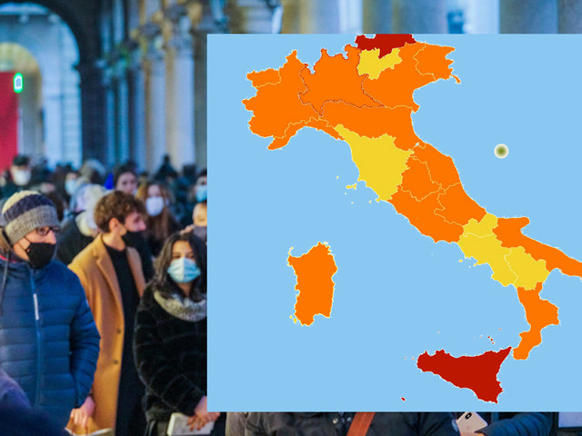 Covid, Lombardia e Sardegna arancioni Colori invariati per le altre regioni