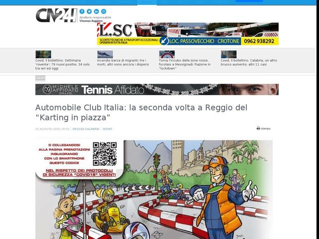 """Automobile Club Italia: la seconda volta a Reggio del """"Karting in piazza"""""""