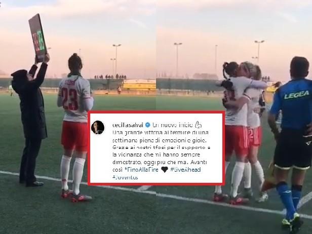 """Juventus Women, Salvai torna in campo dopo l'infortunio: """"Un nuovo inizio"""""""