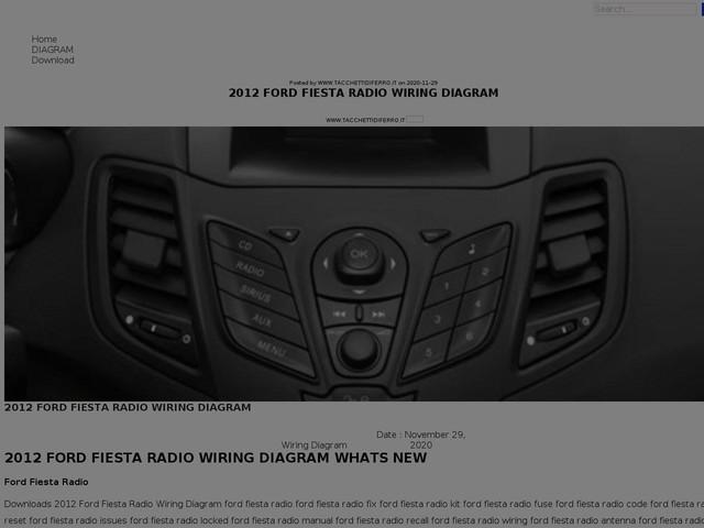 Ford Fiesta Radio Wiring Diagram
