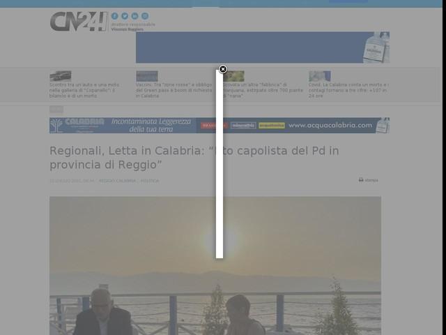 """Regionali, Letta in Calabria: """"Irto capolista del Pd in provincia di Reggio"""""""