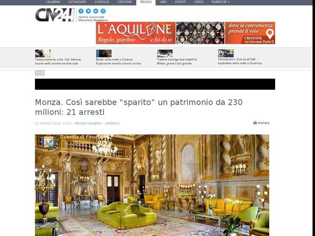 """Monza. Così sarebbe """"sparito"""" un patrimonio da 230 milioni: 21 arresti"""