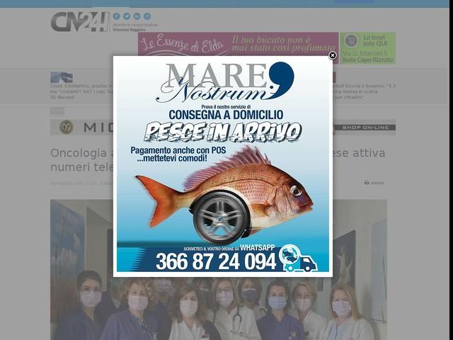 Oncologia ai tempi del Covid-19: l'ospedale Pugliese attiva numeri telefonici ed e-mail