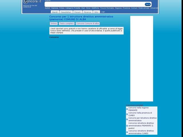 Istruttore direttivo amministrativo - CUNEO