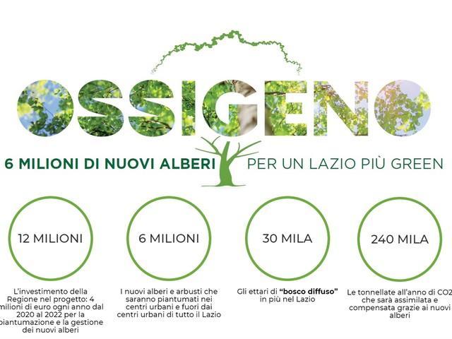 Ossigeno per il Lazio: la Regione pianterà 6 milioni di alberi