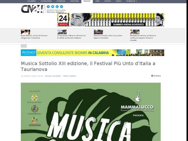 Musica Sottolio XIII edizione, il Festival Più Unto d'Italia a Taurianova