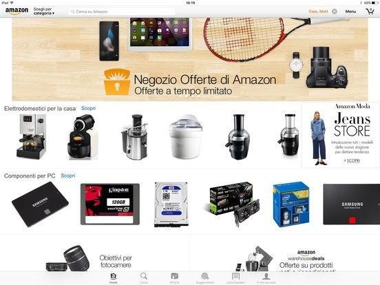Amazon Mobile si aggiona alla vers 11.01.2