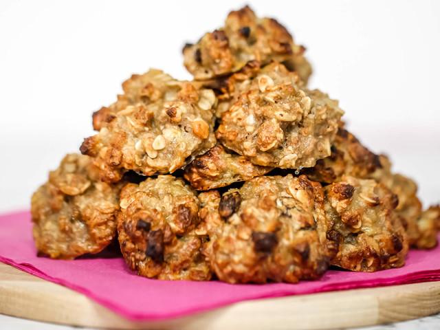 Biscotti 2 Ingredienti in 3 minuti - con Banane e Muesli