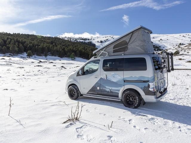Avventure green con il Nissan e-NV200 Winter Camper Concept elettrico