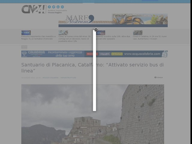 """Santuario di Placanica, Catalfamo: """"Attivato servizio bus di linea"""""""