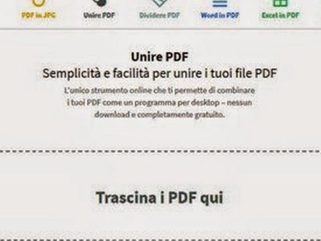 Unire online più file pdf in un unico documento