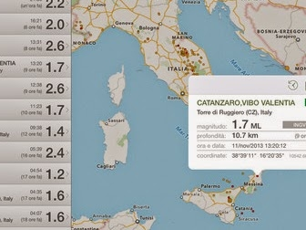Terremoto l'app per iPhone e iPad si aggiorna alla vers 3.11.3