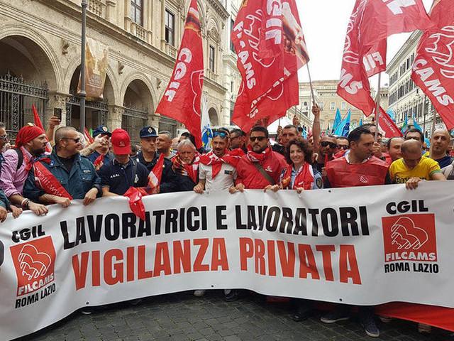 Vigilanza privata, è sciopero di due giorni