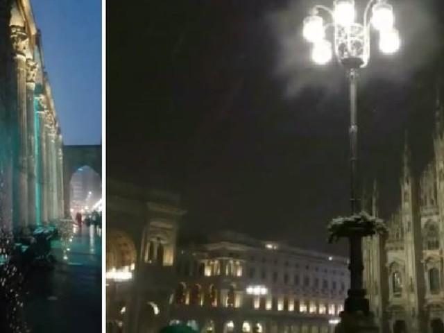 """""""Questa sera sei bellissima"""". A Milano cade la prima neve e i fiocchi incantano tutti"""