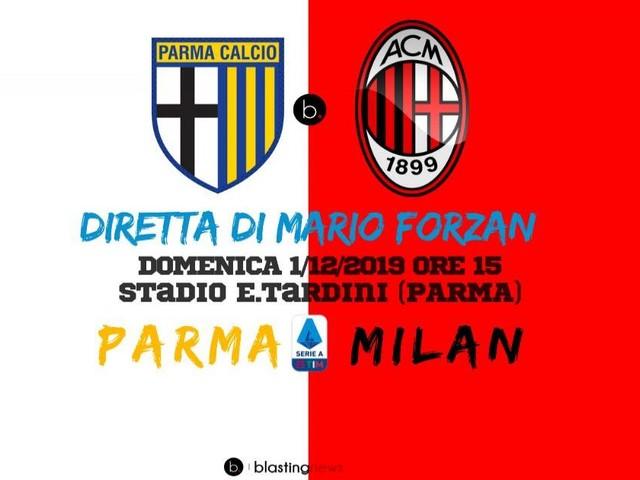 Diretta Serie A: Parma - Milan, squadre in emergenza, Inglese e Paquetà assenti