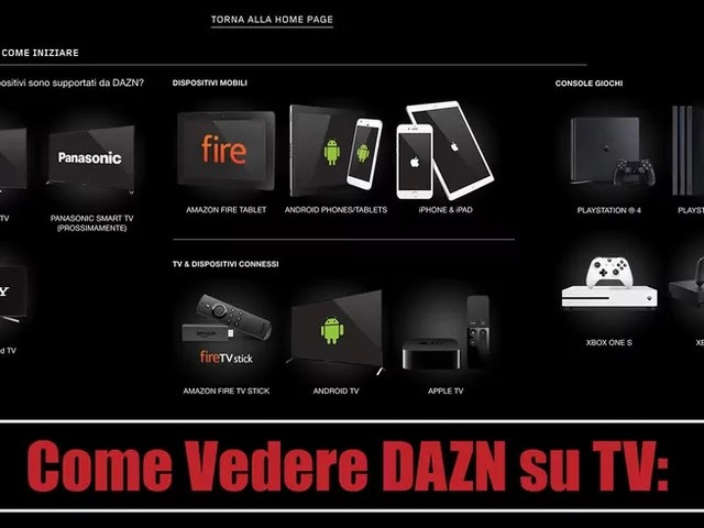 Come Vedere DAZN su TV e Dispositivi Compatibili