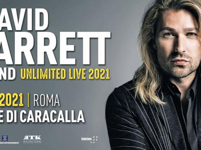 David Garrett a Roma nel 2021, posticipato il concerto alle Terme di Caracalla