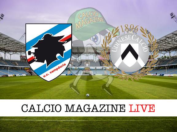 Sampdoria – Udinese: cronaca diretta live, risultato in tempo reale