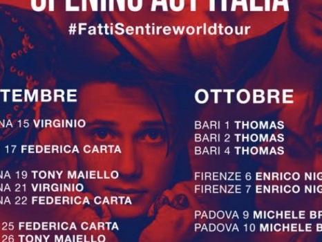 Gli opening act di Laura Pausini per Fatti Sentire World Tour da Michele Bravi a Irama e Federica Carta