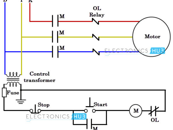 3 Phase Motor Wiring Diagram Schematic
