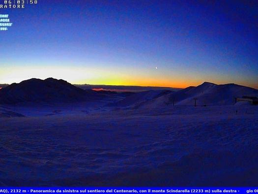 Risveglio gelido sui monti d'Abruzzo, -22,6 a Piani di Pezza
