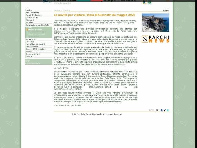 PN Arcipelago Toscano - Le novità per visitare l'isola di Giannutri da maggio 2021