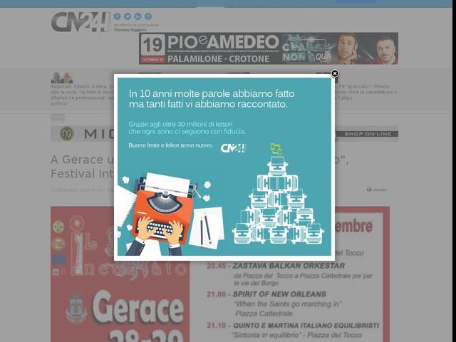"""A Gerace una winter edition de """"Il Borgo Incantato"""", Festival Internazionale di Arte di Strada"""""""
