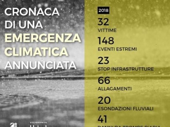 L'Italia vittima dei cambiamenti climatici: 148 eventi meteo estremi solo nell'ultimo anno