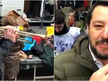 """Milano, Salvini contestato a suon di tromba: """"Bella ciao? Questa mattina si son svegliati, non fanno mai una mazza…"""""""