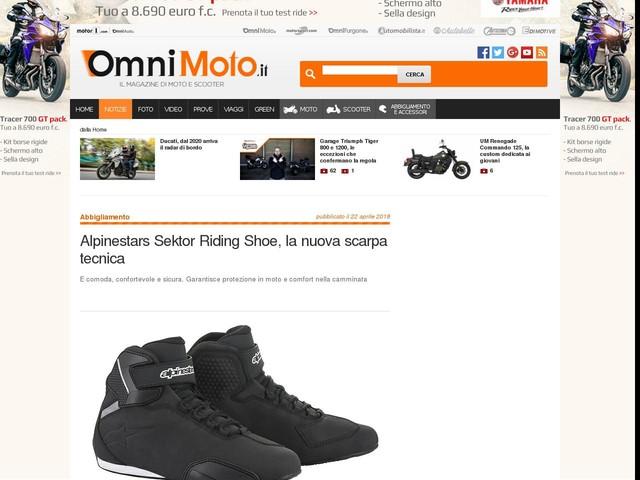 Alpinestars Sektor Riding Shoe, la nuova scarpa tecnica