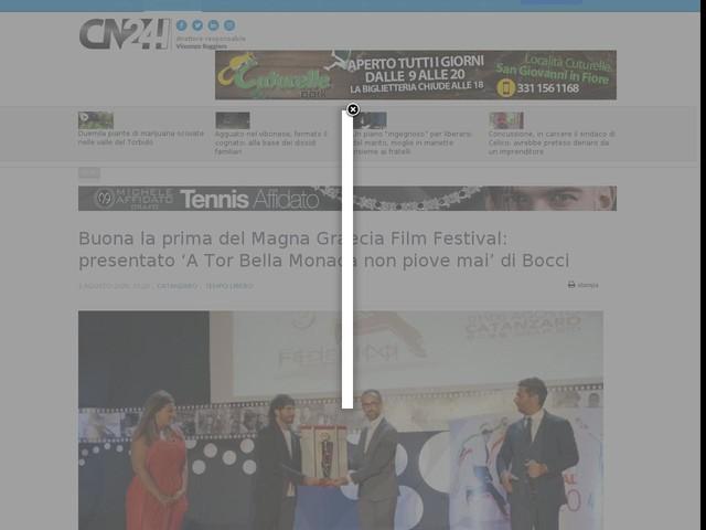 Buona la prima del Magna Graecia Film Festival: presentato 'A Tor Bella Monaca non piove mai' di Bocci