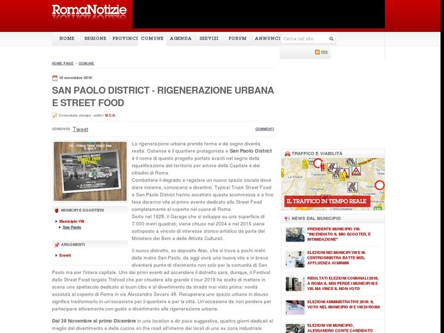 SAN PAOLO DISTRICT - Rigenerazione urbana e Street Food