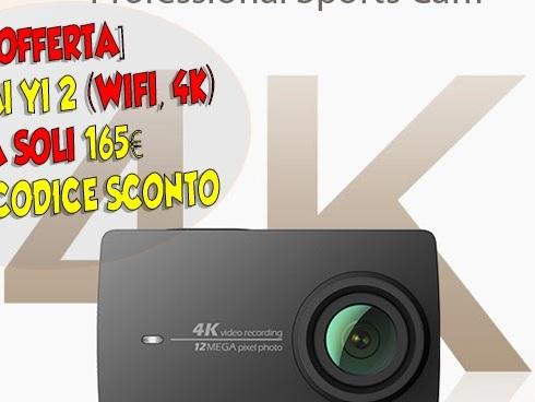 [Offerta] Xiaomi Yi 2 (WiFi, 4K) a soli 165 con codice sconto