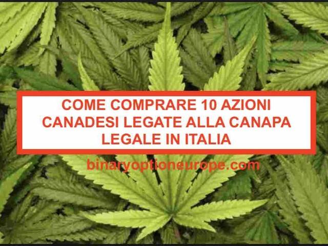 Come comprare 10 azioni canadesi legate alla canapa legale cannabis