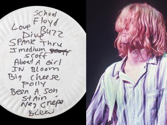 All'asta un piatto in cui Kurt Cobain mangiò la pizza: venduto per 20mila euro