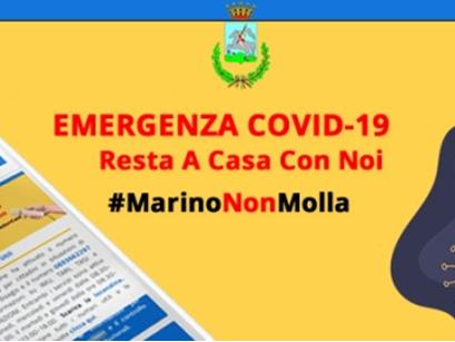 Marino - L'emergenza Covid-19 non ci ferma #MarinoNonMolla