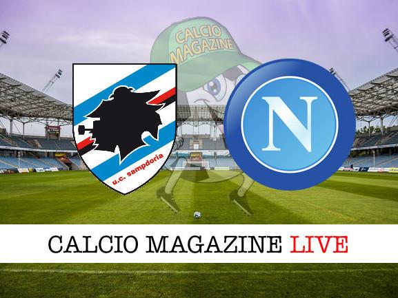 Sampdoria – Napoli: cronaca diretta live, risultato in tempo reale