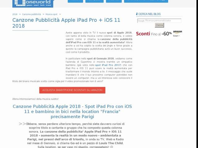Canzone Pubblicità Apple iPad Pro + iOS 11 2018