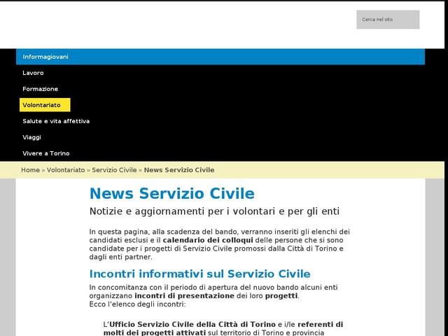 Incontro di presentazione dei progetti di Servizio Civile