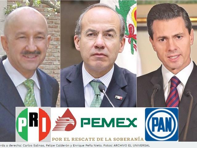 Gigantesco scandalo petrolifero in Messico, coinvolti tre ex Presidenti della Repubblica: Salinas, Calderón e Peña Nieto