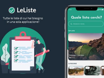 LeListe – l'app con le liste precompilate per non dimenticare nulla
