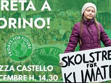 Greta Thunberg a Torino con Friday for Future. «Alcuni stanno sicuramente fallendo più di altri». Delusione per la COP25 di Madrid