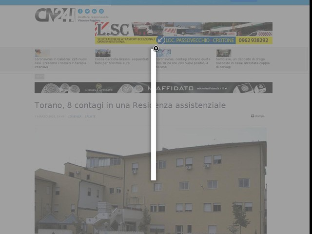 Torano, 8 contagi in una Residenza assistenziale