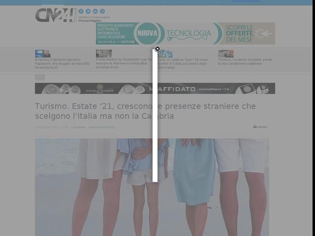 Turismo. Estate '21, crescono le presenze straniere che scelgono l'Italia ma non la Calabria