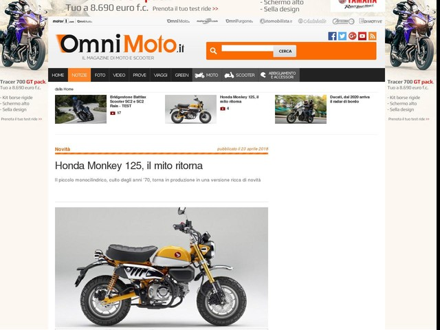 Honda Monkey 125, il mito ritorna