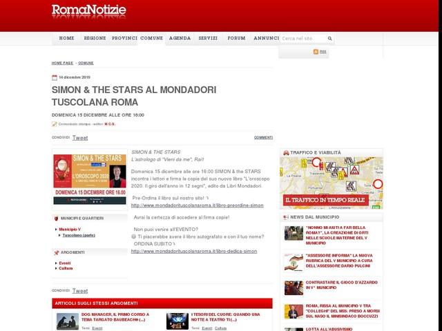Simon & The Stars al Mondadori Tuscolana Roma